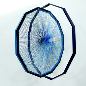 Dodecagono 3D- azul ultramar- Paris