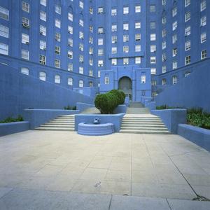 Blue Building. Los Angeles, California, USA
