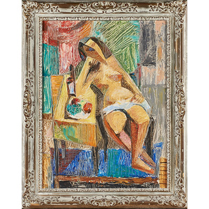 Untitled Painting (Reclining Nude With Fruit Bowl) (Framed), Philadelphia, PA
