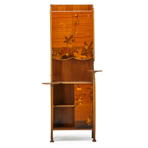 Art Nouveau Cabinet With Flowers, Leaves And Beetles, France
