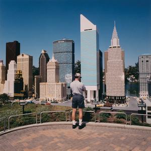 Man at New York City Overlook, Legoland, Carlsbad, California