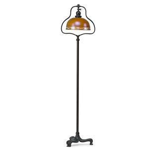 Floor lamp with adjustable shade, Meriden, CT/New York, NY