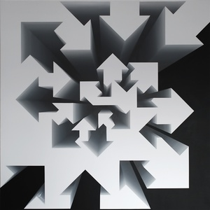 Fibonacci Nautilus - Black & White