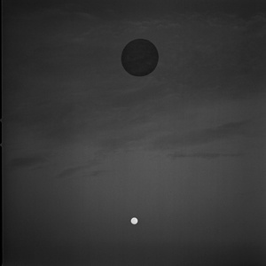 Moon and Black Hole in Sky