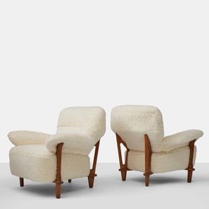 Rare Pair of Lounge Chairs by Theo Ruth