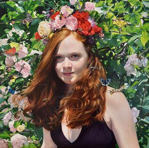 When She Wears Flowers in Her Hair