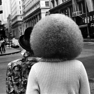 Untitled (two people on the street, one with afro)