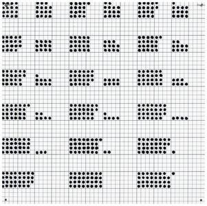 "Black 6"" Squares Series #3"