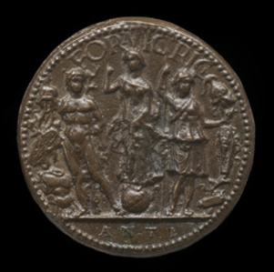 Fortune, Mars, and Minerva [reverse]