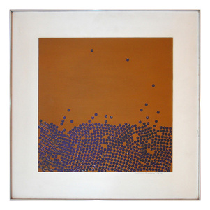 Migration (Purple Discs on Ochre)