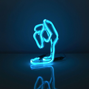Neon Desk Light (blue)