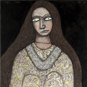 Women with Silver Necklace