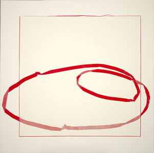 Floating Line Drawing: Red Orbit
