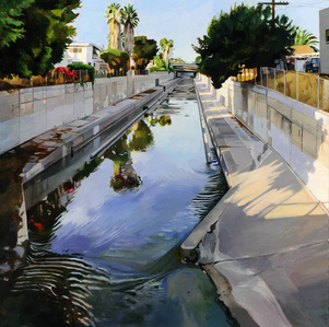 Ballona Creek, Looking East