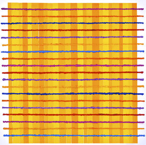 Colour Grid on Yellow