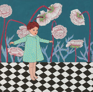 The Little Girl under the Peonies