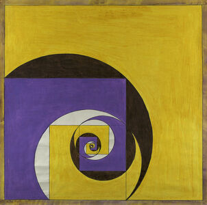 Untitled (Abstraction in Yellow and Purple)