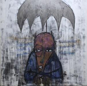 Umbrella above the rain