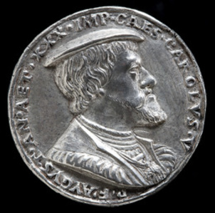 Charles V, 1500-1558, King of Spain 1516, Holy Roman Emperor 1519-1556 [obverse]