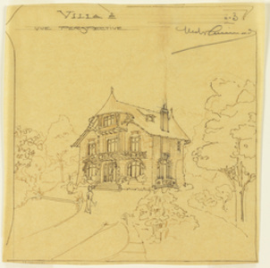 Perspective View of a Villa