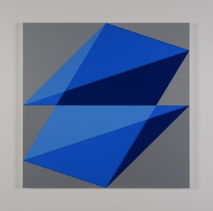 Composition in 2648 Blue, 2051 Blue, 2114 Blue and 3001 Gray