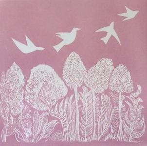 Birds over Leaves