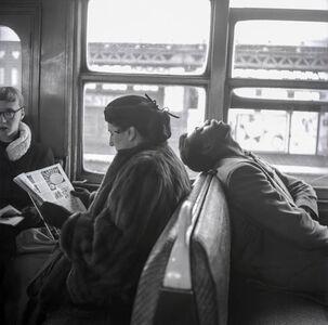 Asleep on the Subway Train