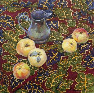 Apple on the Leaves