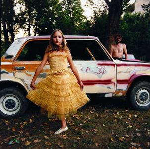Alicia in Golden Dress
