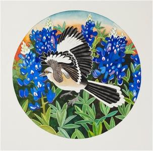 Mockingbird and Bluebonnets