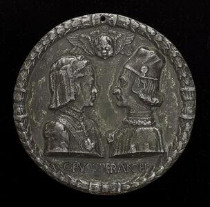 Ercole I d'Este, 1431-1505, Duke of Ferrara, and Eleonora of Aragon, 1450-1493, His Wife 1473 [obverse]