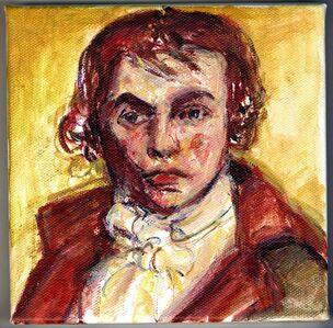 Self Portrait I after Jacques- Louis David
