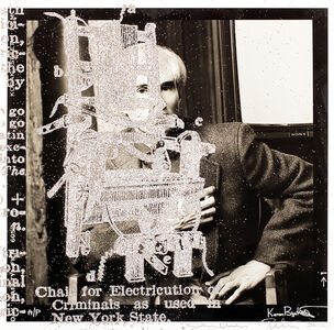 """Electric Chair"" Andy Warhol Portrait"