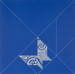 Tangram Butterfly/Blue