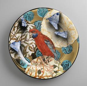 Crimson Rosella Camouflage Plate