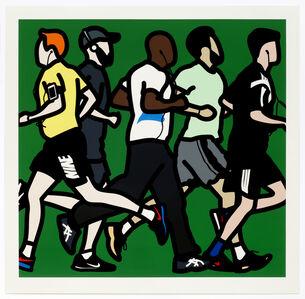 Running men.