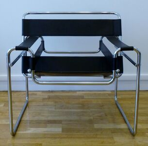 Set of four Modernist armchairs, by Marcel Breuer