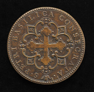 The Consecration of St. Peter's (botonée cross in quatrefoil design) [reverse]