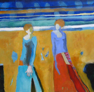 Two Figures in Golden Field
