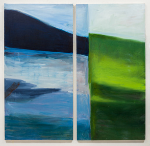 Hudson River Painting (2 panels)