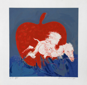 Camel and Red Apple