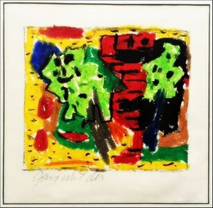 Untitled Abstract Expressionist Painting (A protege of Hans Hofmann, Milder also studied Jewish mysticism and Kaballah)