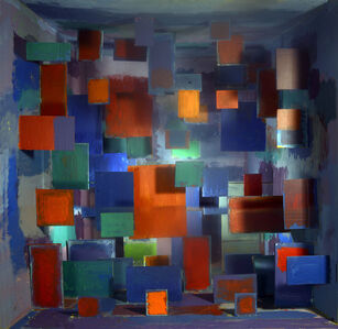 Interdimensional Abstract Painting: Rothko in Michelangelo's Library