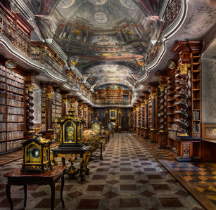 Baroque Library Hall, Clementinum | Prague