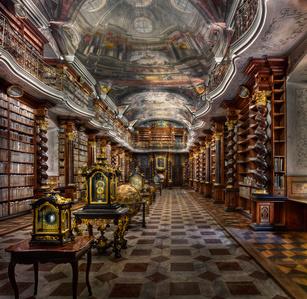 Baroque Library Hall, Clementinum | Prague