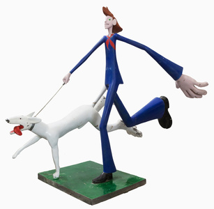 Tall man with a dog