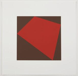 9 prints of Eugen Gomringer and Ivo Ringe in Linnen box: vorhergehendes im zusammenhang mit folgendem