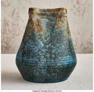 Scorched Blue Vase