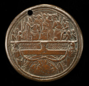Emperor, Pope, and Cardinals on Ponte Sant' Angelo [reverse]
