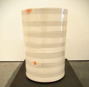 Cylinder Vase with Orange